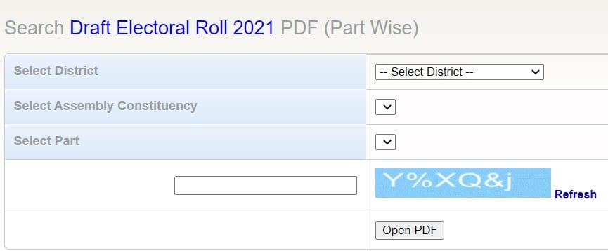 Maharashtra CEO Voter List PDF Voter List