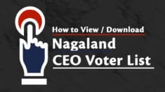 CEO Nagaland Voter List 2020 (PDF Electoral Roll) – Search Name & Download ID Card