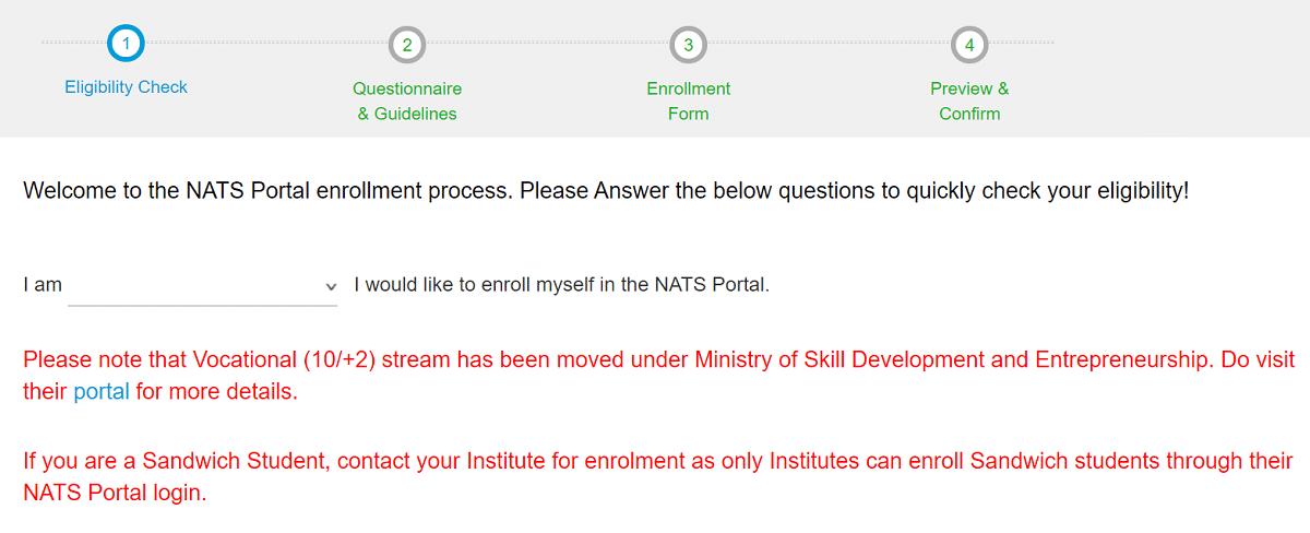 National Apprenticeship Training Scheme eligibility check