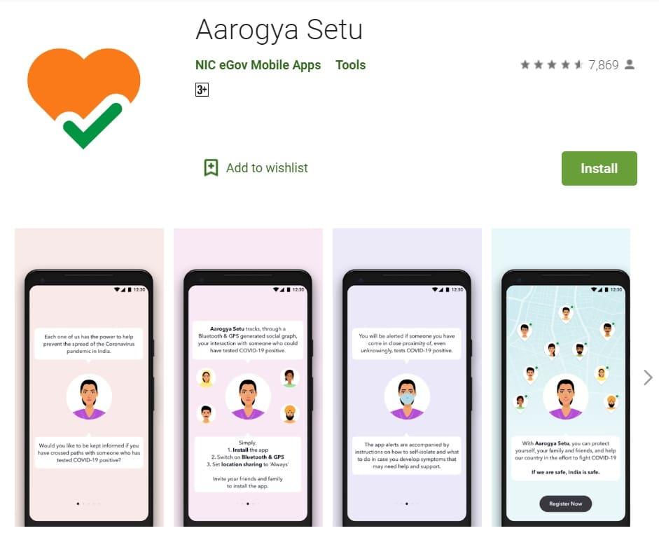 Aarogya Setu App Android Google Play Store