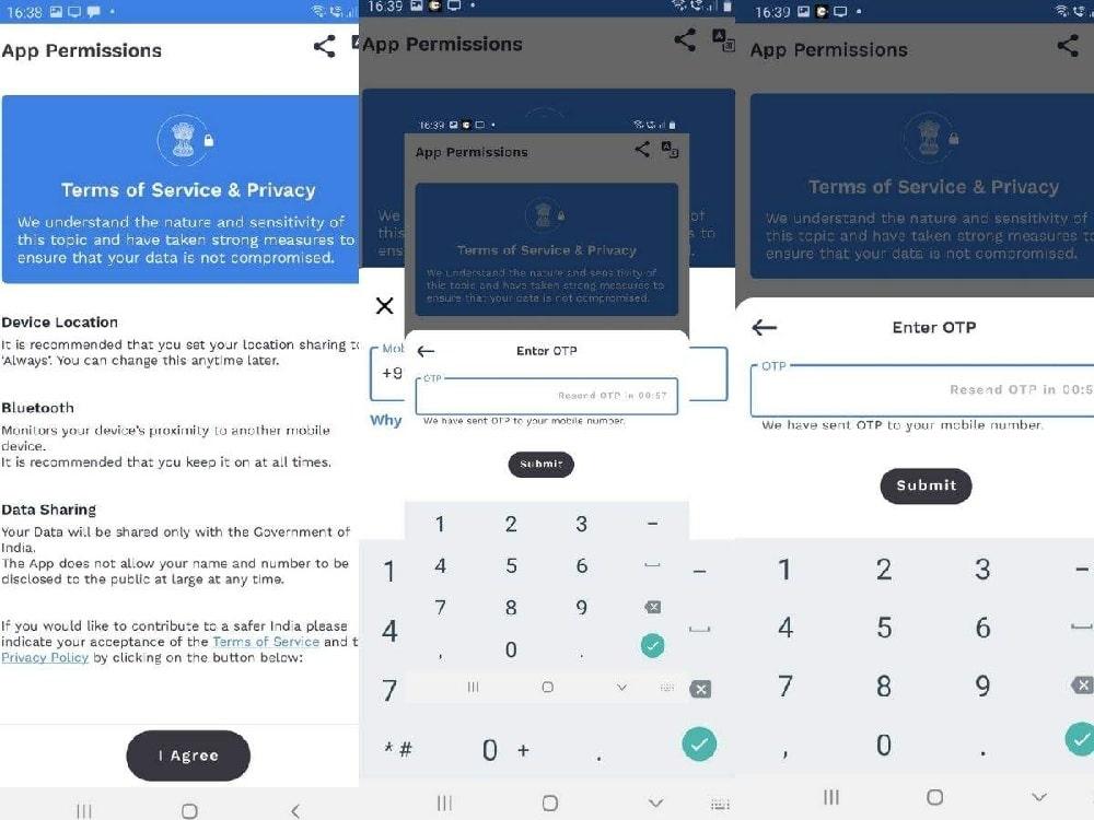Aarogya Setu App Online Registration (One Time Password)