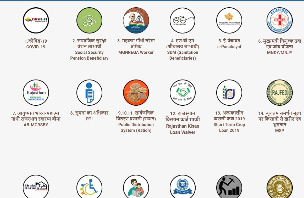 jansoochna.rajasthan.gov.in Covid-19 Scheme