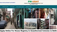 PM-UDAY Yojana Registration Application Form DDA
