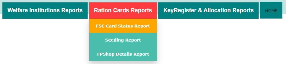 Telangana FSC Ration Card Status Report