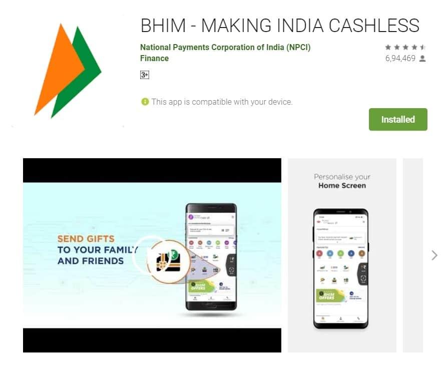 Bhim UPI Payments App Download