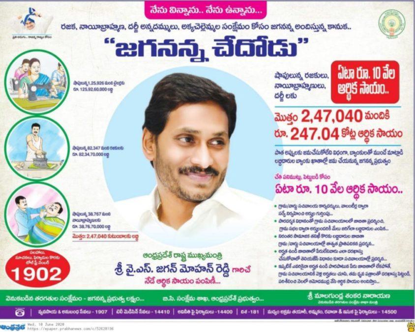 AP Jagananna Chedodu Scheme Phase 1