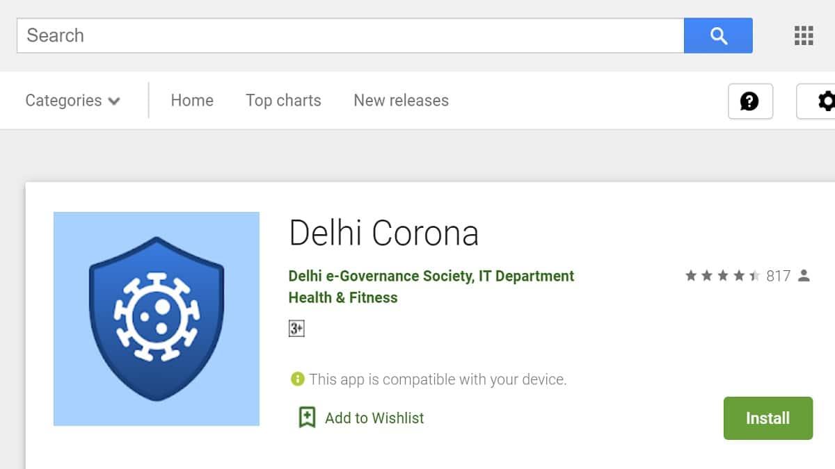 Delhi Corona Mobile App Download Android