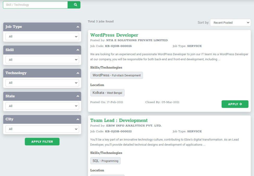 Karmabhumi Prakalpa Portal List Jobs