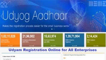 Udyam Registration Online New Existing Enterprise