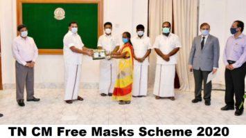 TN CM Free Masks Scheme 2020