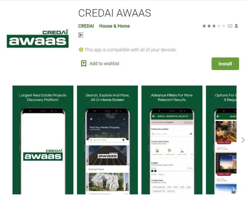 CREDAI Awaas App Download Google Play Store