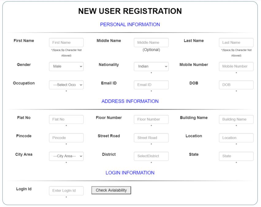 Digital Satbara - New User Registration