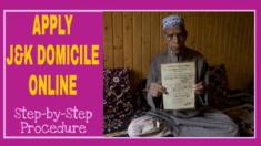Jammu & Kashmir Domicile Certificate Online Application Form 2020-2021 at jk.gov.in/jkeservices/