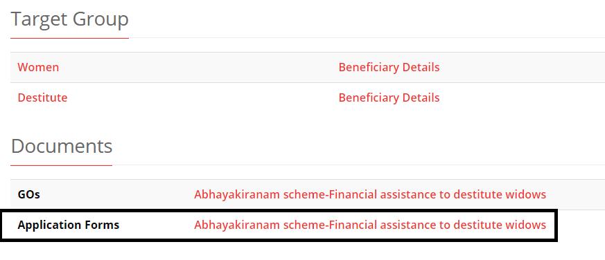 kerala abhayakiranam scheme apply online link