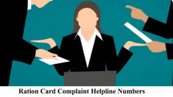Ration Card Complaint Helpline Numbers