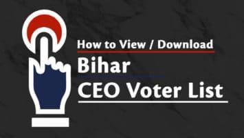 Bihar CEO Voters List / बिहार मतदाता सूची