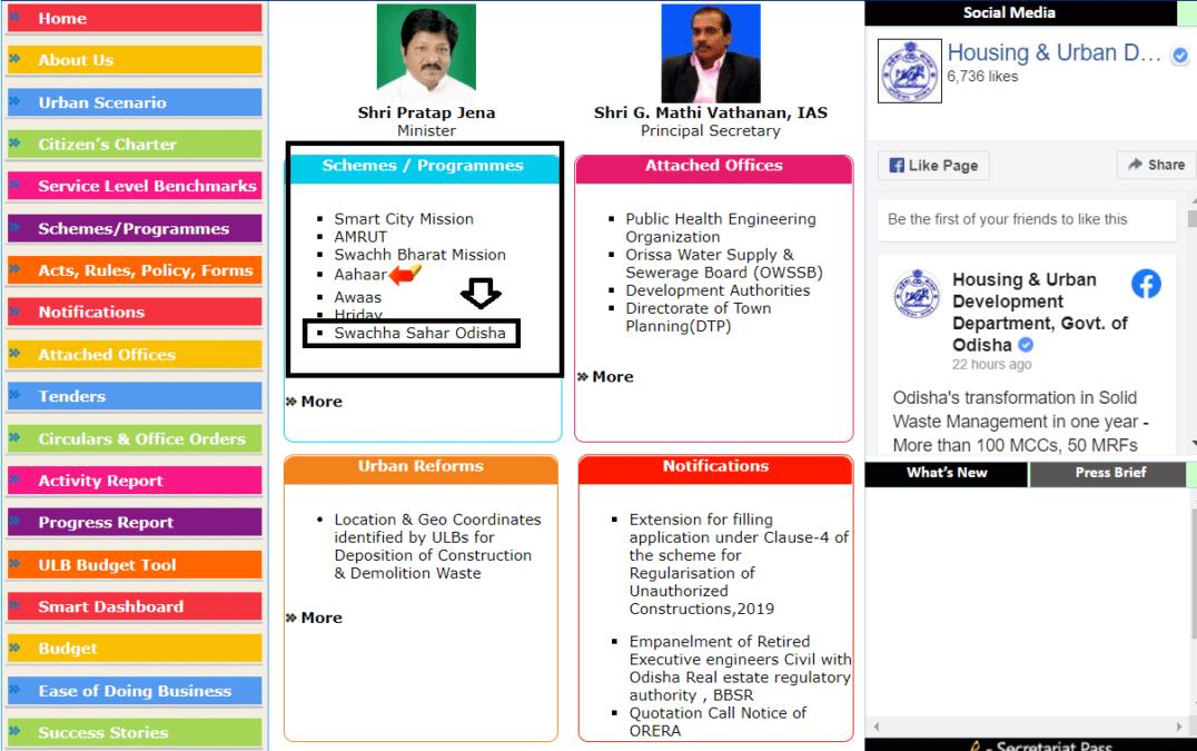Housing Urban Development Department Odisha Plan List