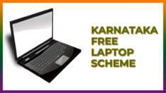 [Apply] Karnataka Free Laptop Scheme 2021 Registration Form / Eligibility Criteria