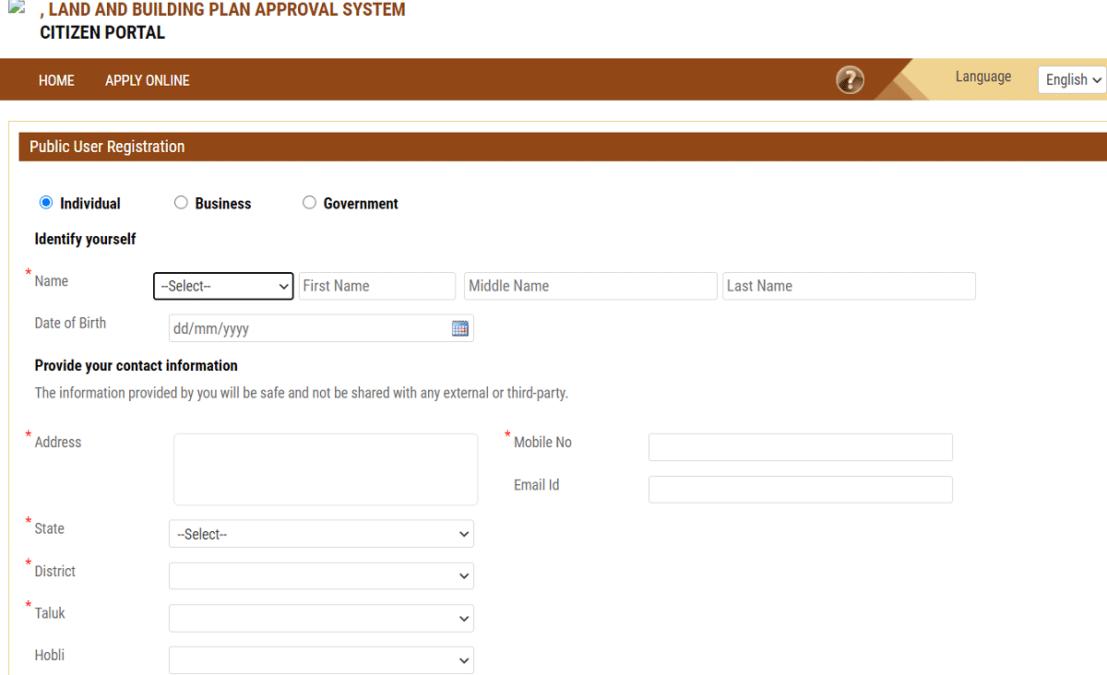 lbpas karnataka online registration form