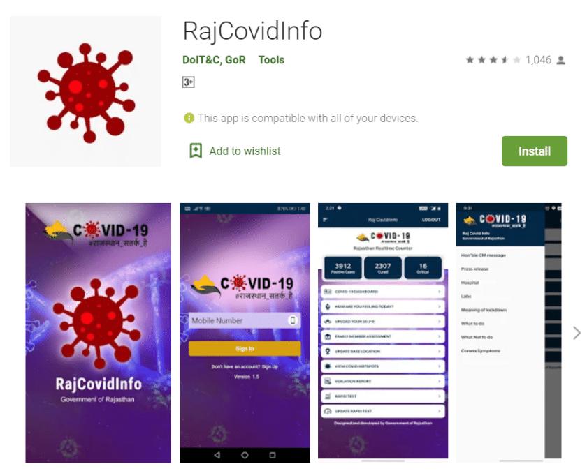 raj covid info app download google play store