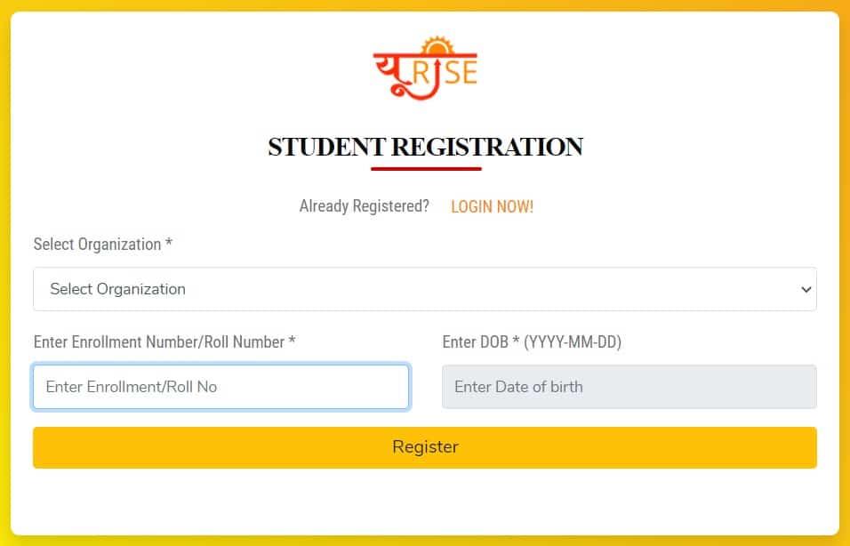 UP Urise Student Registration Form