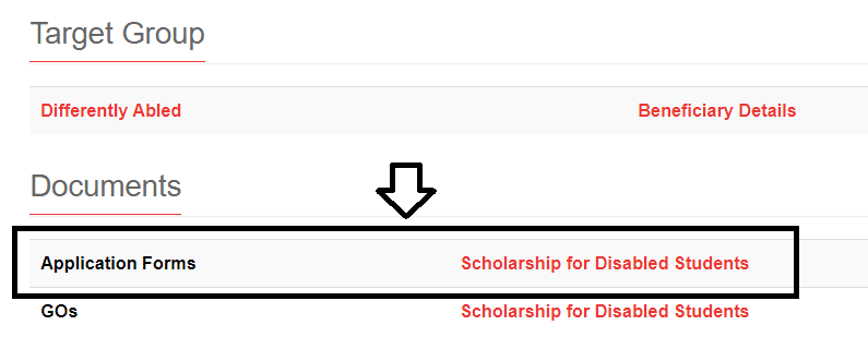 kerala scholarship disabled students application form link