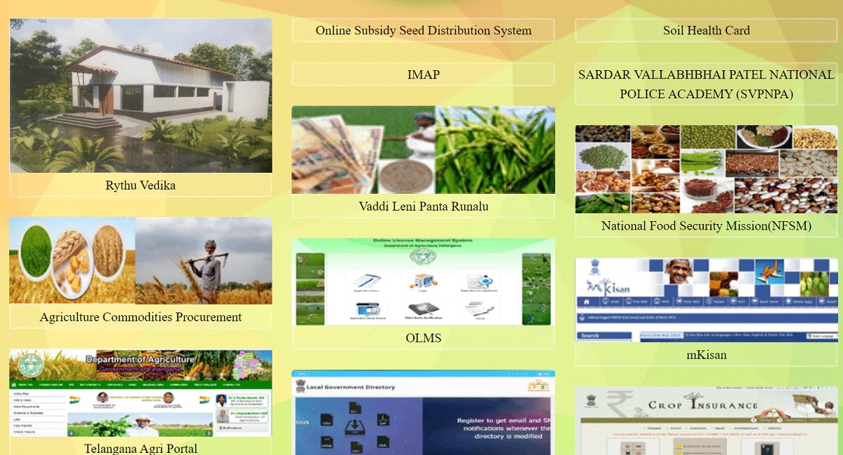 Kisan Telangana Gov Portal Homepage
