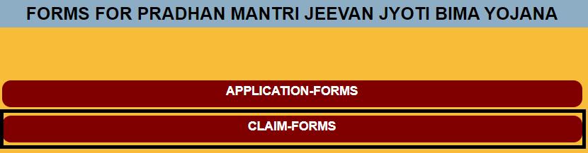 pm jeevan jyoti bima yojana claim forms page
