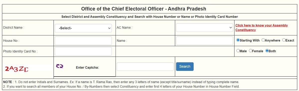 Find Name in AP Voter List Online