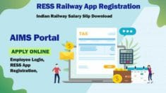 AIMS Portal | Indian Railway Pay Slip | RESS App, Download Salary Slip