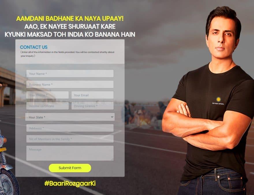 Sonu Sood Free E-Rickshaw Scheme Registration
