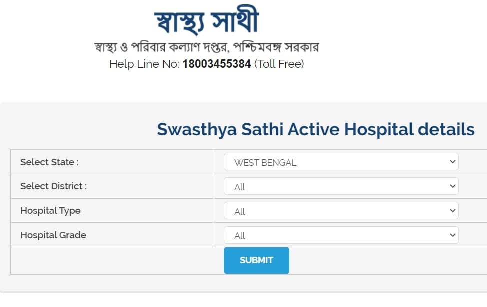 Swasthya Sathi Active Hospitals List
