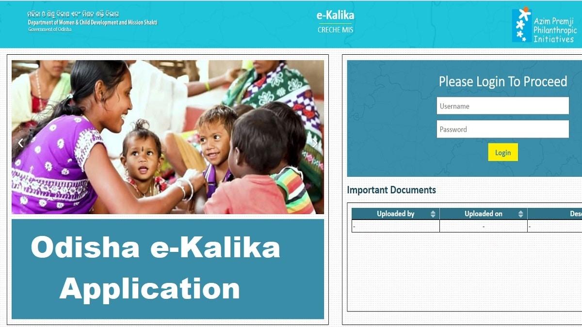 Odisha e-Kalika Application ekalika Creche Mis