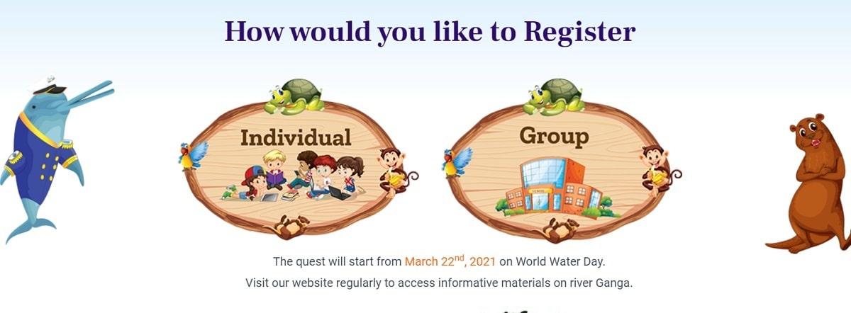 Register Ganga Quest Individual Group