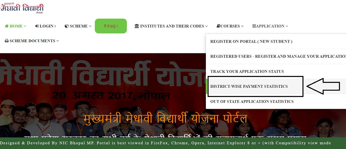 MP Medhavi Chhatra Scholarship Yojana MMVY Portal