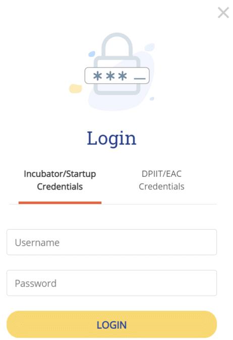 Startup India Seed Fund Scheme Incubator Login