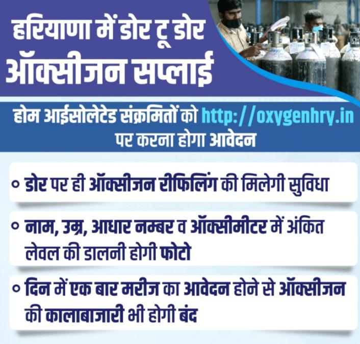 Haryana Door to Door Oxygen Supply