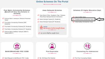 MP Pratibha Kiran Scholarship Yojana Online Registration Form Application Status