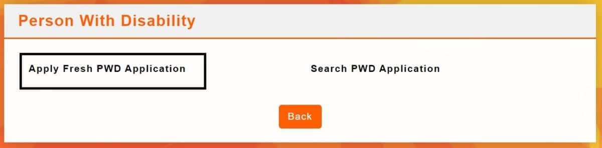 Apply Online Fresh PWD Application