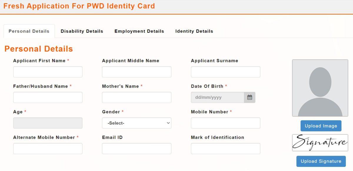 Fresh Application PWD Identity Card