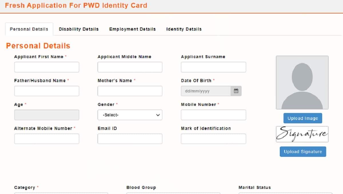 Odisha PWD ID Card Apply Status